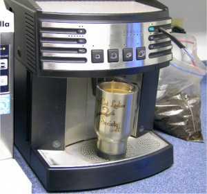 8:40 a.m.: Coffee!