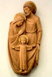 8:35 p.m.: Holy Family sculpture.