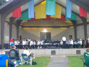 Concert in the park.