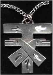 Tau cross pendant, the habit of Secular Franciscans in the U.S.
