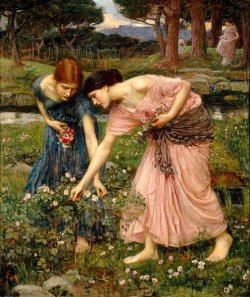 'Gather Ye Rosebuds While Ye May' by John William Waterhouse (1909)